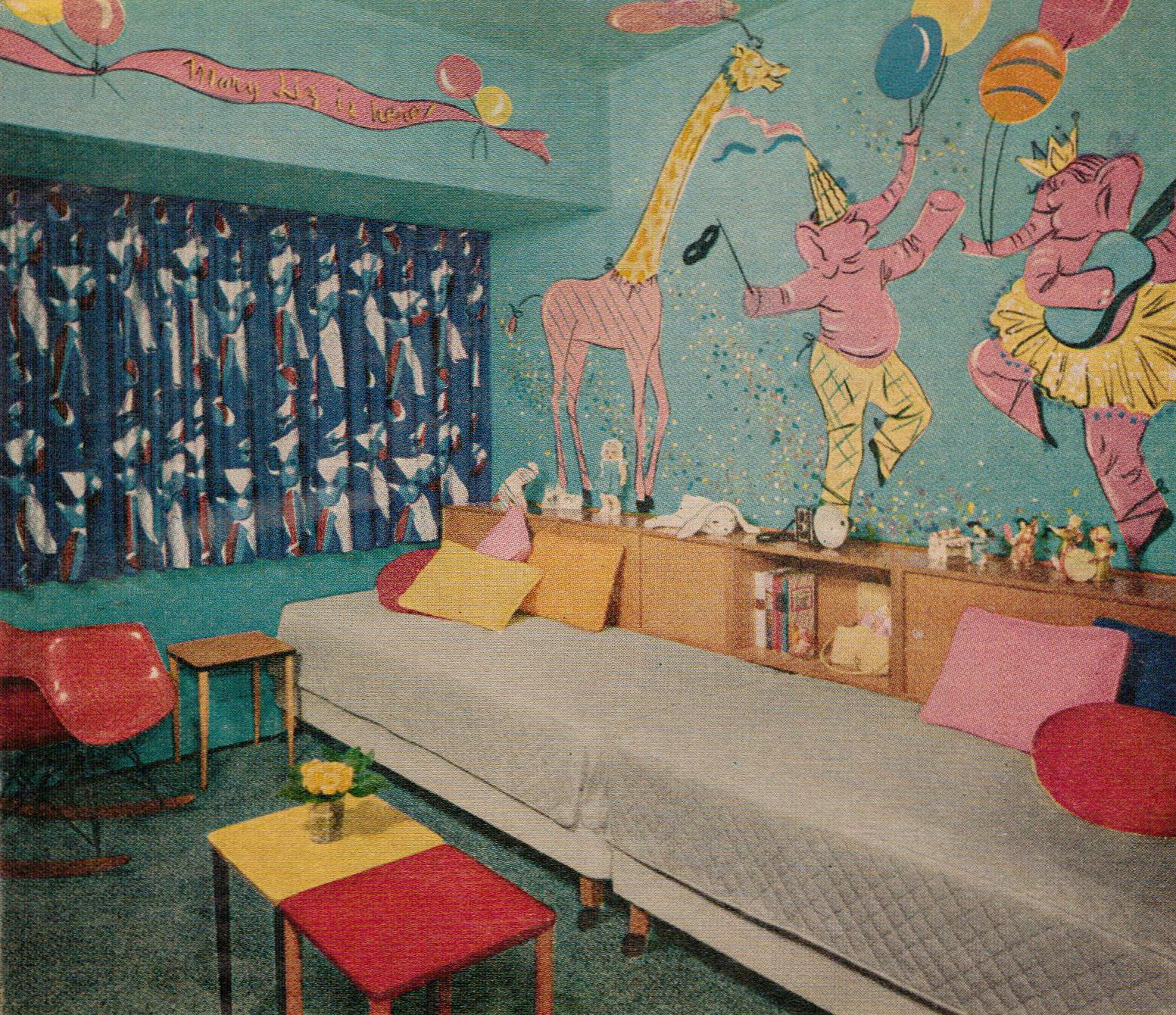 Mid Century Modern Kids Bedroom Ideas: Pin By ️Cathy Howson ️ On L♥VE The 50's In 2019