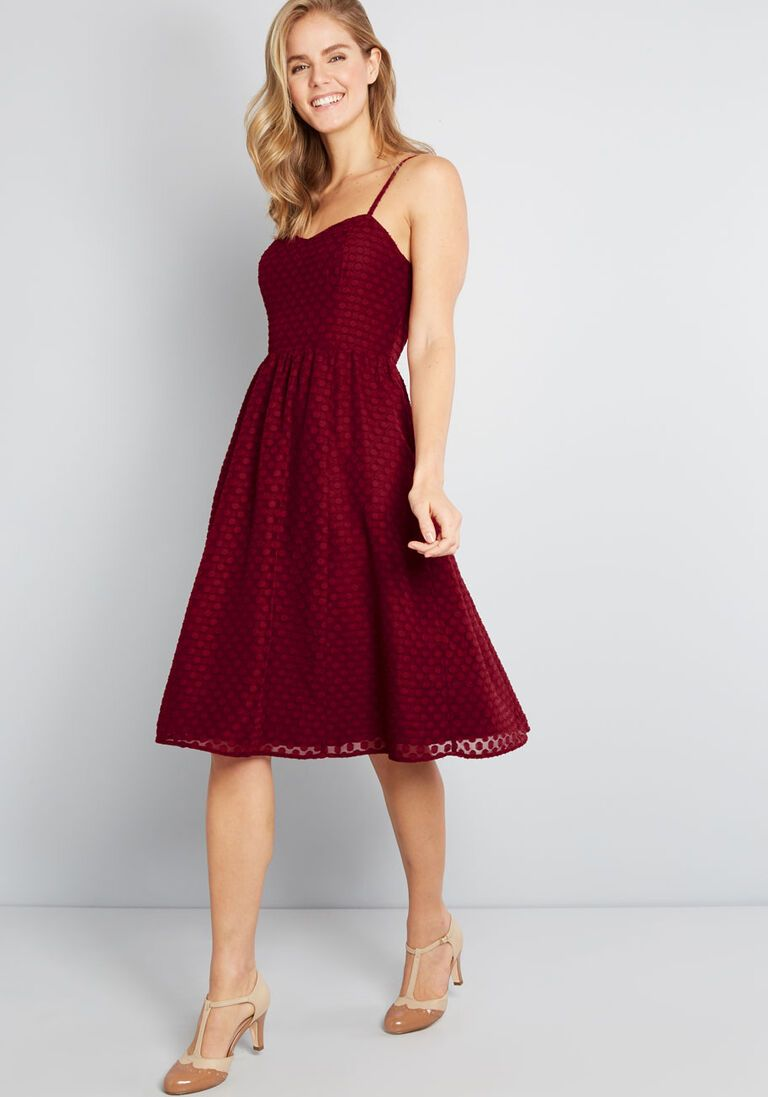 Enduring detail midi dress burgundy midi dress dresses