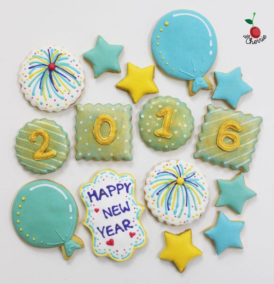 Happy New Year 2016 Cookies