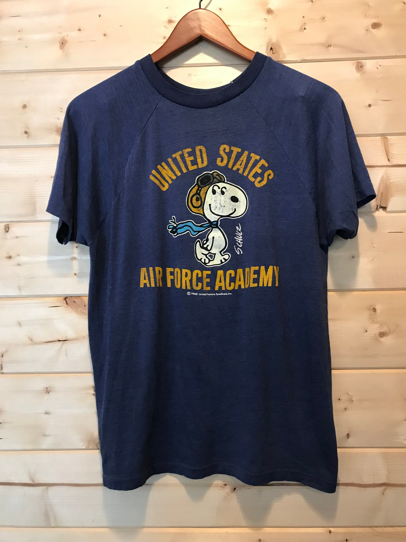 d67eb759 Vintage Incredible 1970's Snoopy Air Force Shirt Shirt Shirt 50/50 T-Shirt  Made