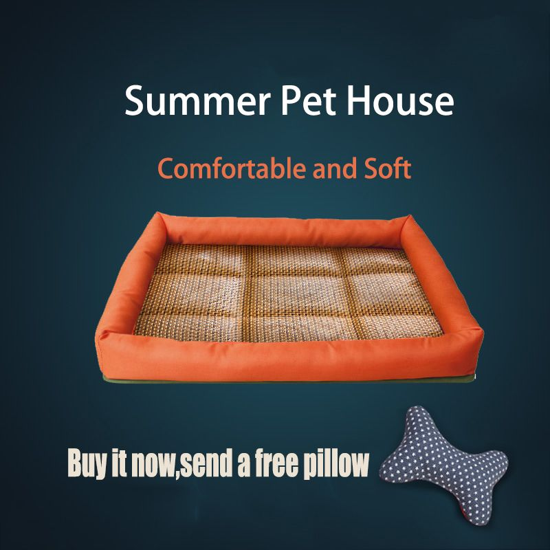 Free Pillow Pet Beds Cool Dog Blanket Pet Cat House Mat Dogs Cooling Pad Summer Dog Bed For Large Dogs