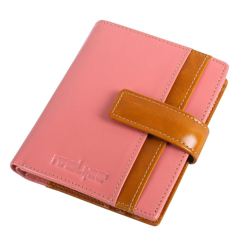 Itslife bifold leather wallet slim travel ladies credit