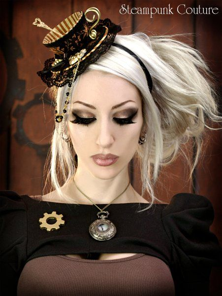 Steampunk and Victorian England: love this box hat.