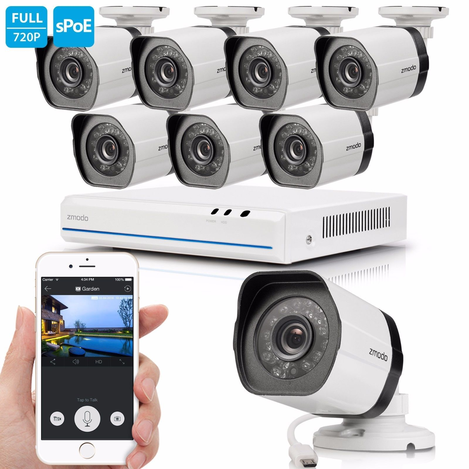 Funlux 720p HD 8 IP Wireless Outdoor IR Night Vision Home Security ...