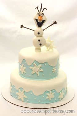 Frozen birthday cake Disney Frozen cake Olaf birthday cake