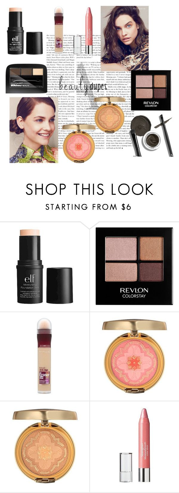"""""""Drugstore treasure"""" by seek-couture ❤ liked on Polyvore featuring beauty, ELF Cosmetics, e.l.f., Revlon, Maybelline, Physicians Formula, Neutrogena and beautydupes"""