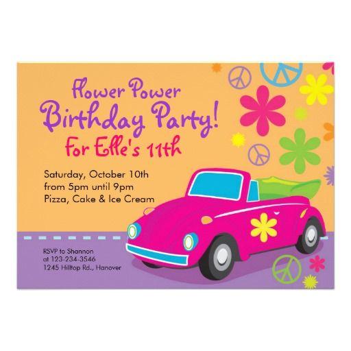 Schön Liebe Wanzehippie Geburtstags Party Einladungen