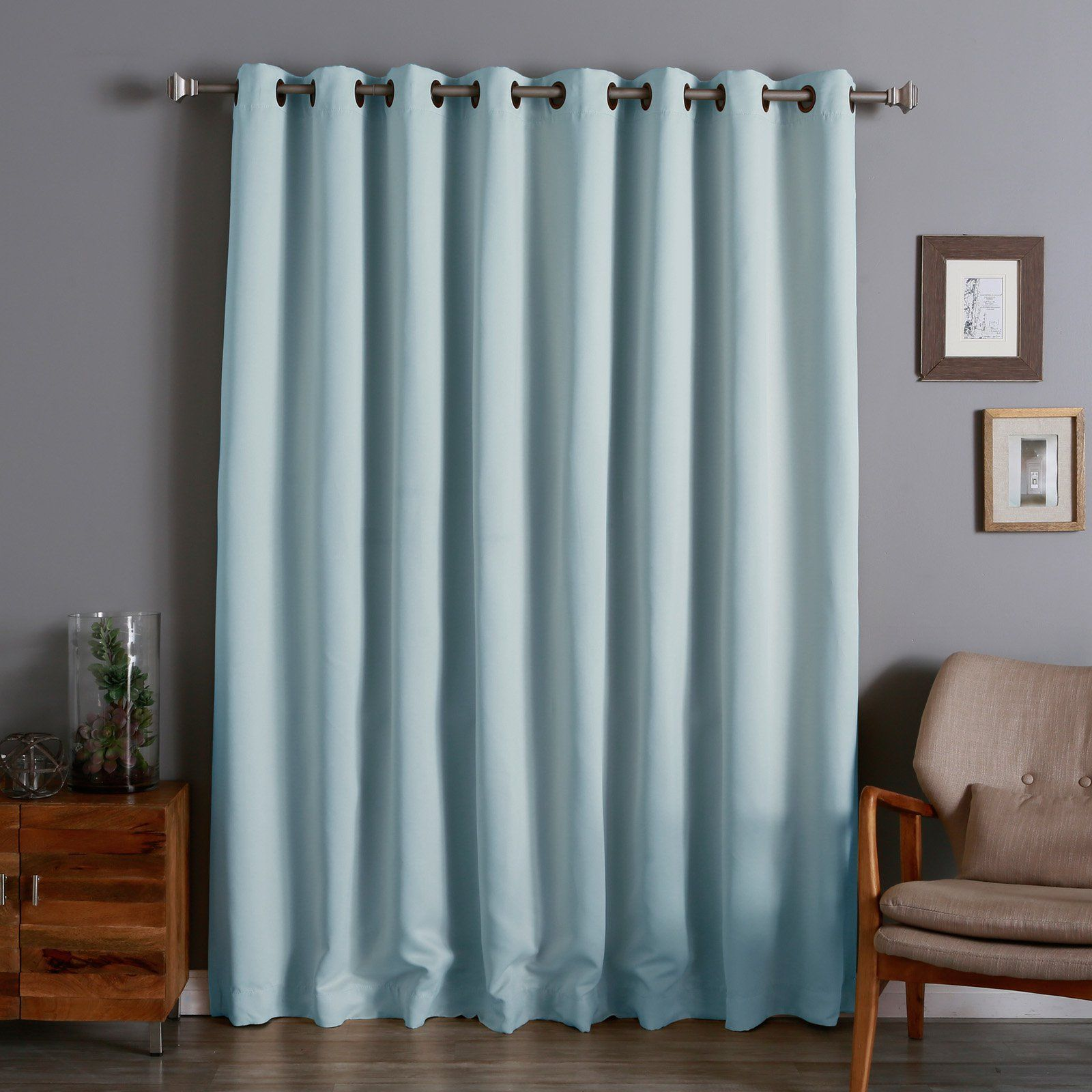 Best Home Fashion Wide Thermal Grommet Blackout Curtain Royal Blue Size 100 X 84 Blackout Curtains Curtains Panel Curtains