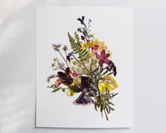 Botanischer Druck Gepresster Pflanzendruck Wandkunst Gepresste Pflanzen Gepresster Blumendruck Botanische Kunst Getrocknete Blumen Esszimmerwandkunst Pflanzenkunst