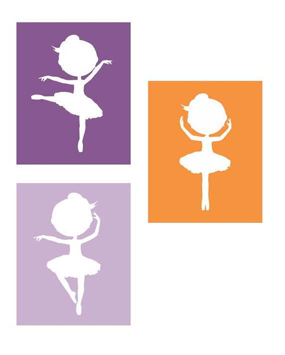 Ballerina  Nursery Wall ArtSet of Three 8x10 by LittlePergola, $45.00