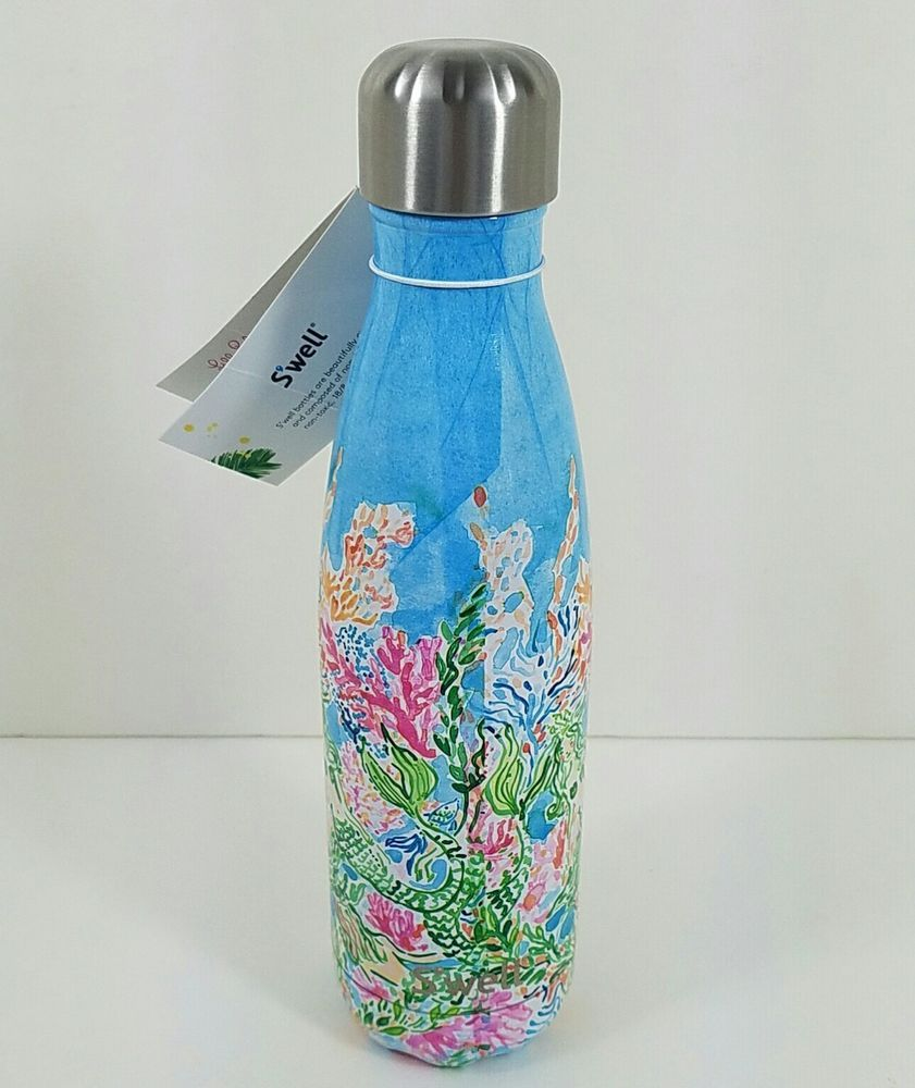 0200adcaeb Lilly Pulitzer Starbucks Mermaid Sirens S'Well Limited Edition Water Bottle  New #LillyPulitzer