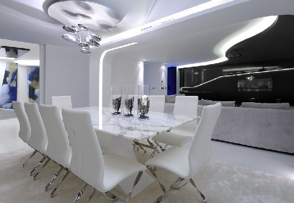 Charming Dining Room Ideas In Futuristic Apartment Design And Remodel By A Cero  Architects