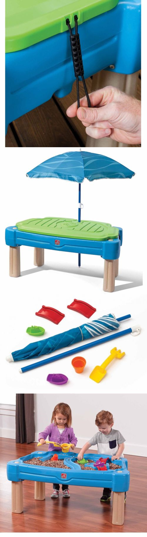 Sandbox Toys And Sandboxes 145990: Step2 Cascading Cove Sand And Water Table  With Cover