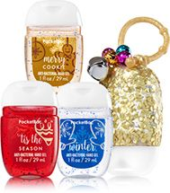 Perfect Christmas 3 Pack Pocketbac Holder Soap Sanitizer