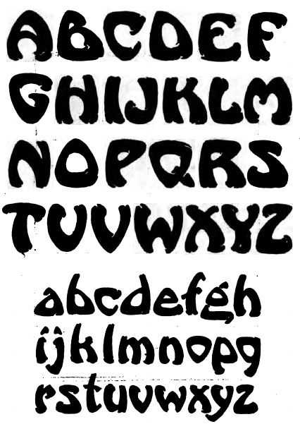 Artistic Lettering Styles  Alphabet Different Lettering Styles
