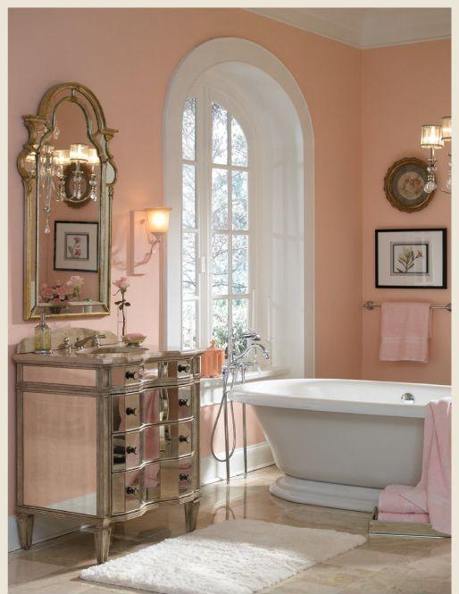 Peach Bathroom Colors, What Colours Go With A Peach Bathroom Suite