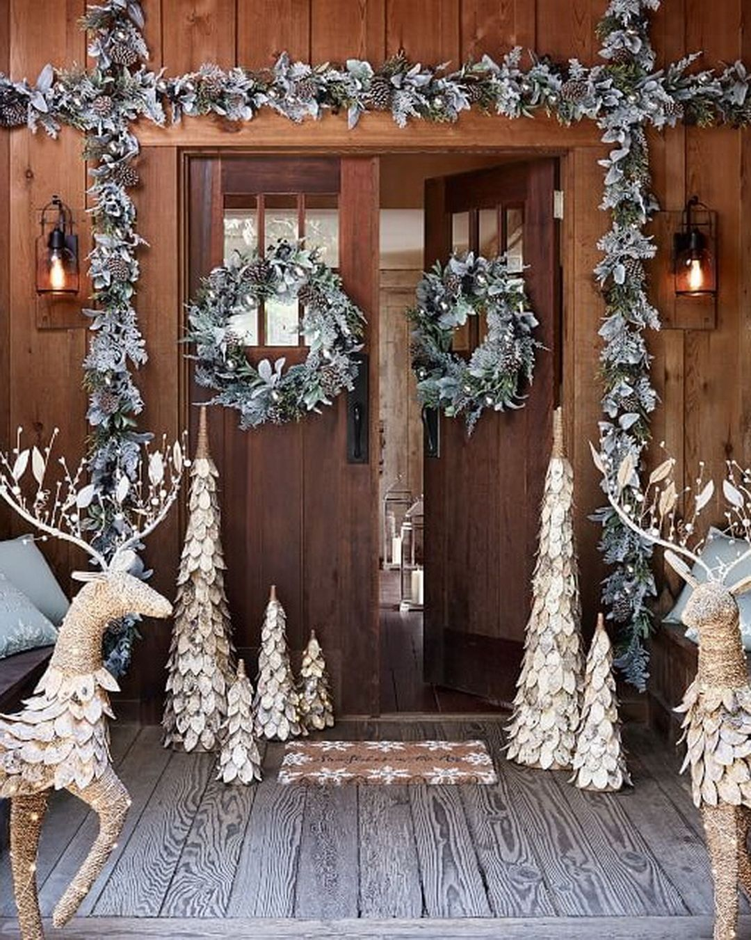 27 Exceptional Outdoor Christmas Decorations Potterybarn Christmas Door Decorations Outdoor Christmas Decorations Pretty Christmas Decorations