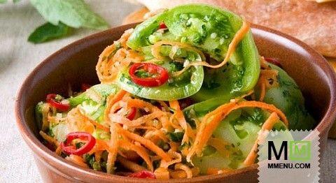 Салат иззеленых помидоров (2)