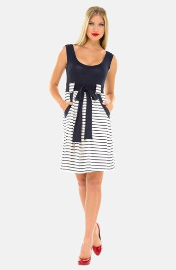 d8a8efd8145 Stripe Dress for Derby When Expecting   Kentucky Derby   Maternity Dresses  for Derby  kentuckyderby