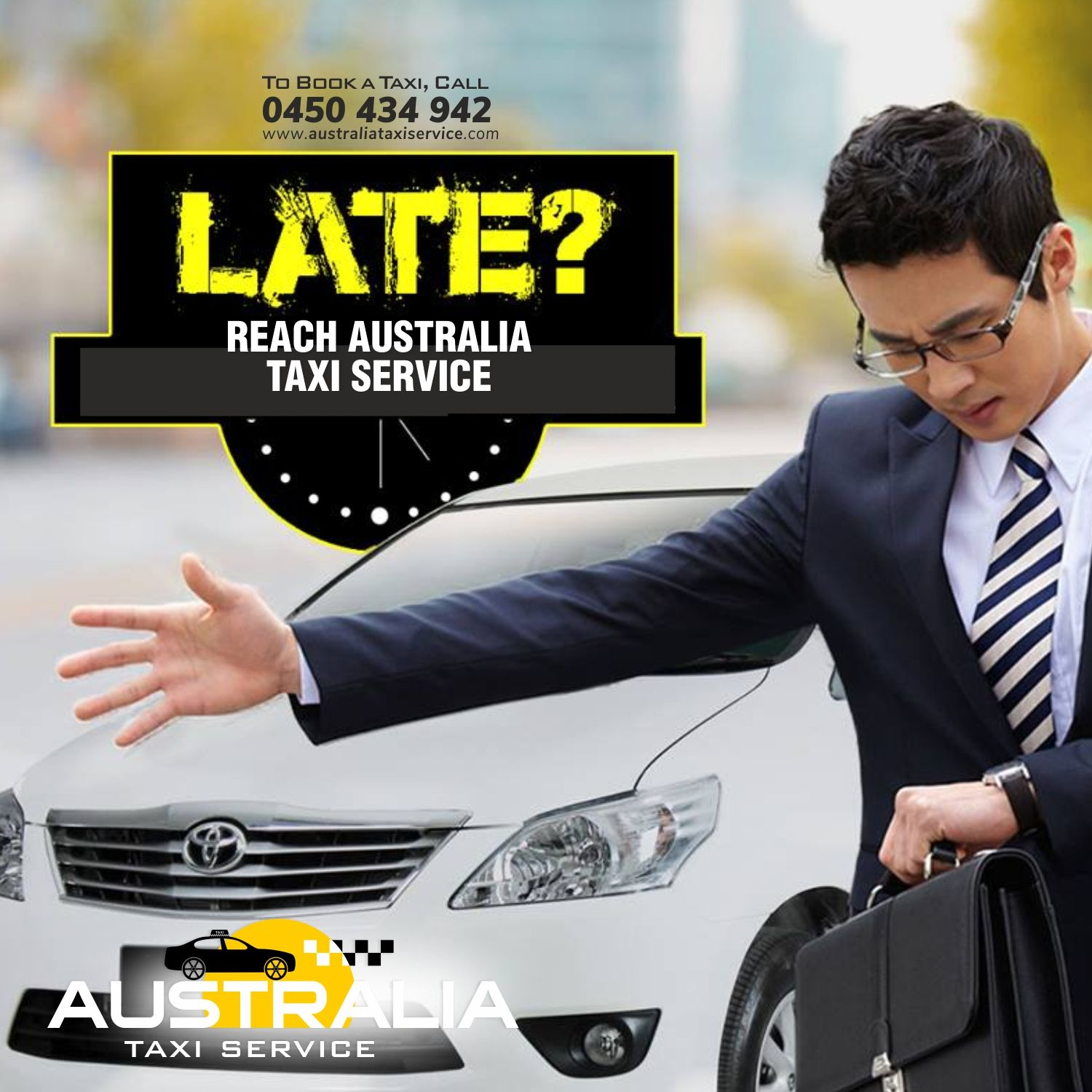 Never Be Late Be On Time With Australia Taxi Service To Book A