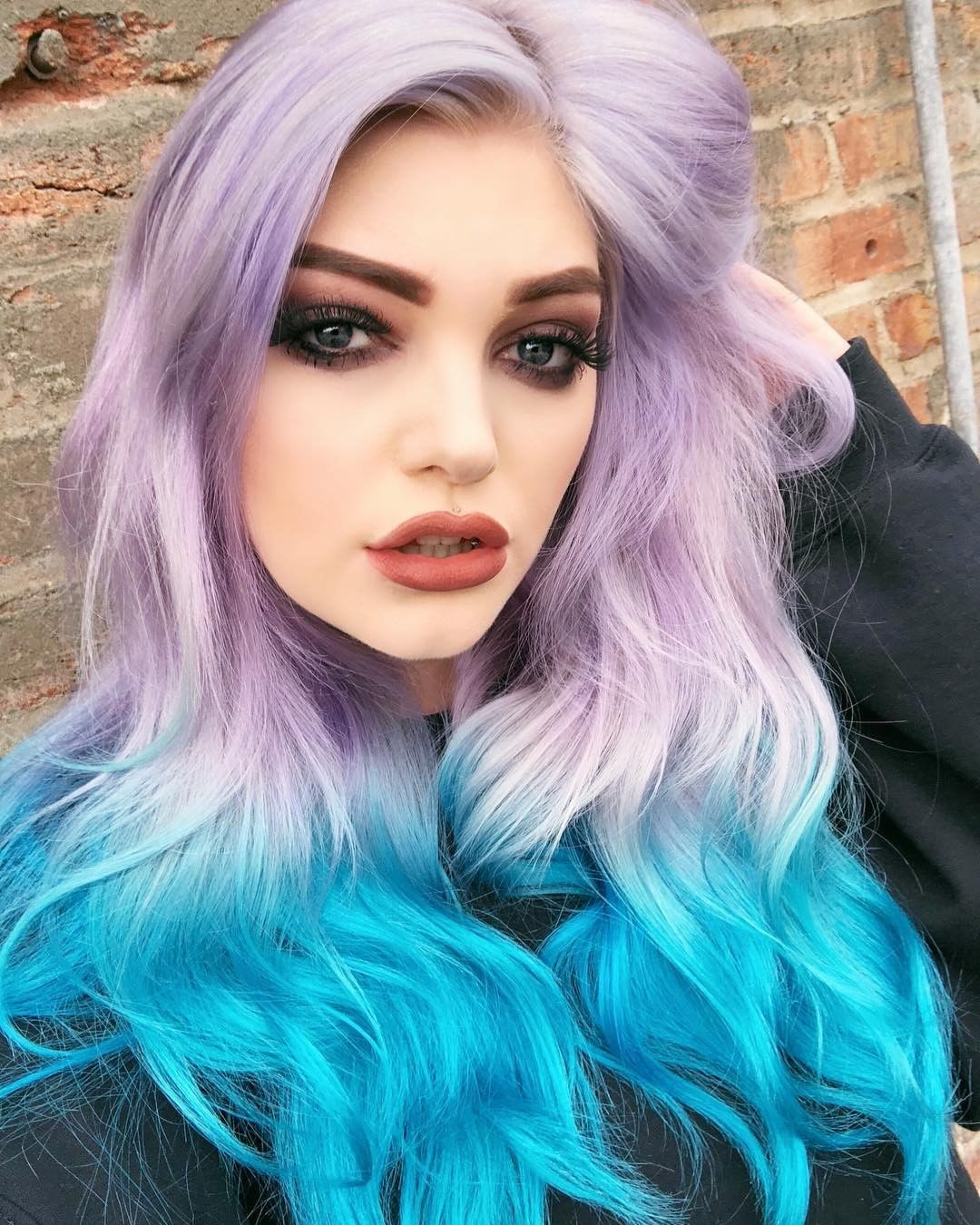 Jenniferbroders Added Some Aquamarine Tips Over Girls Night And It Looks Amazing Tie Dye Hair Wild Hair Color Hair Styles