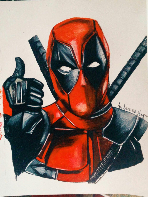 Deadpool Ryan Reynolds Colored Pencil Art Drawing Print Poster Color Pencil Art Pencil Art Drawings Drawing Prints