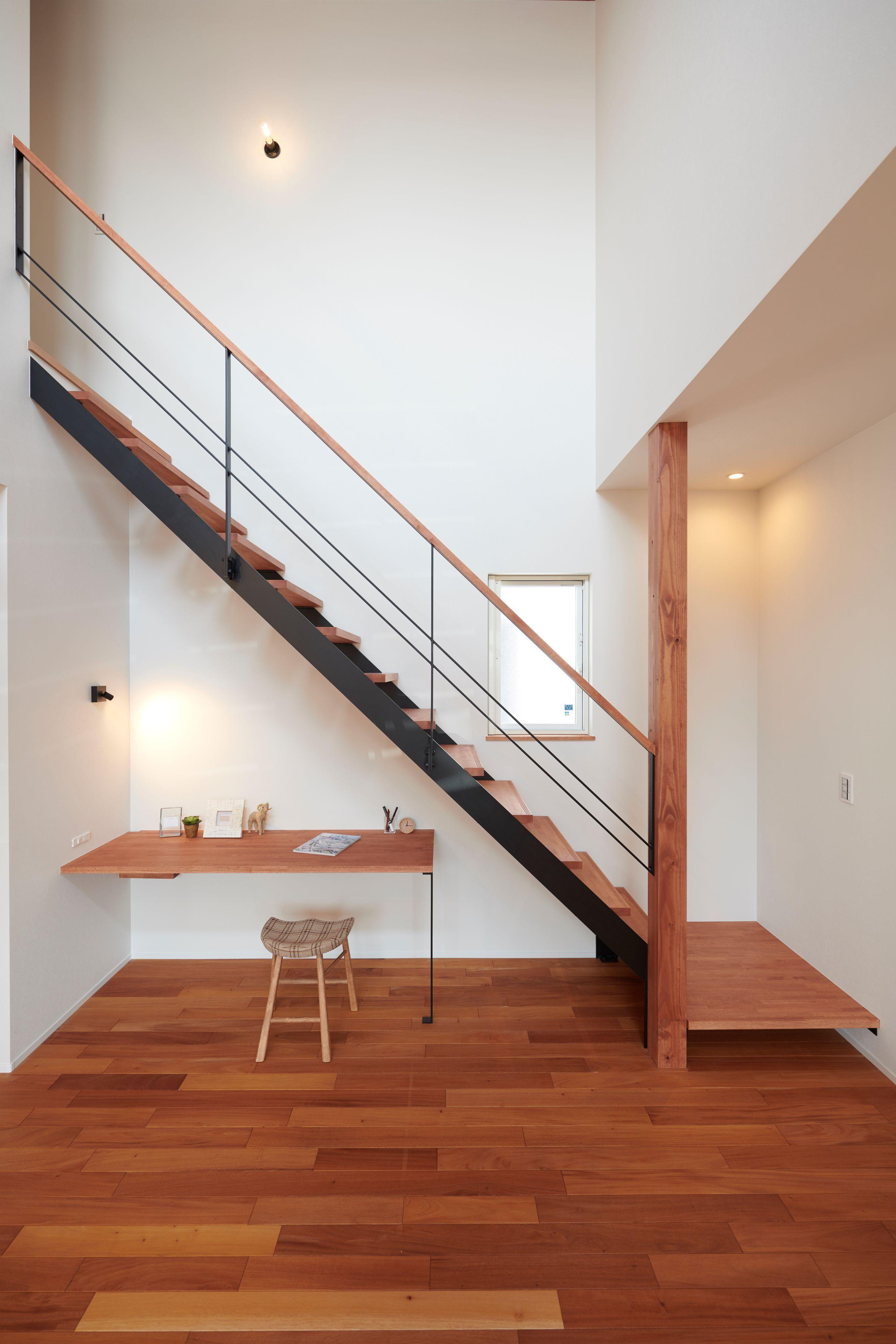 階段下スペースをいかしたスタディーコーナー ルポハウス 設計事務所