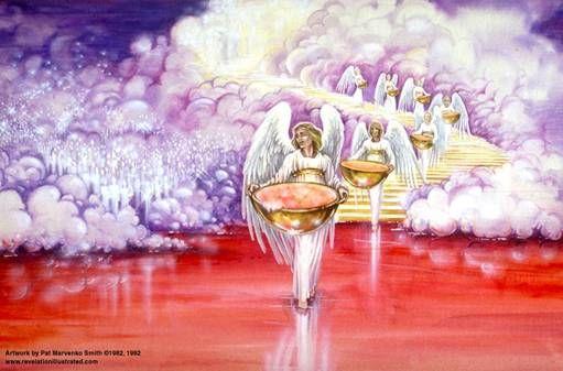 Las siete copas de la ira de Dios contienen las Siete plagas postreras. Apocalipsis 15 y 16. Análisis.