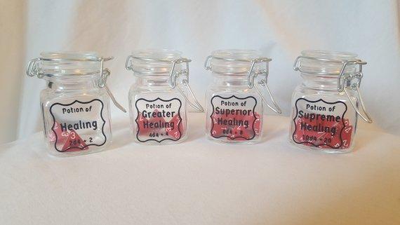 Magic Bottle Dice  Set of 2  D6 Potion DnD