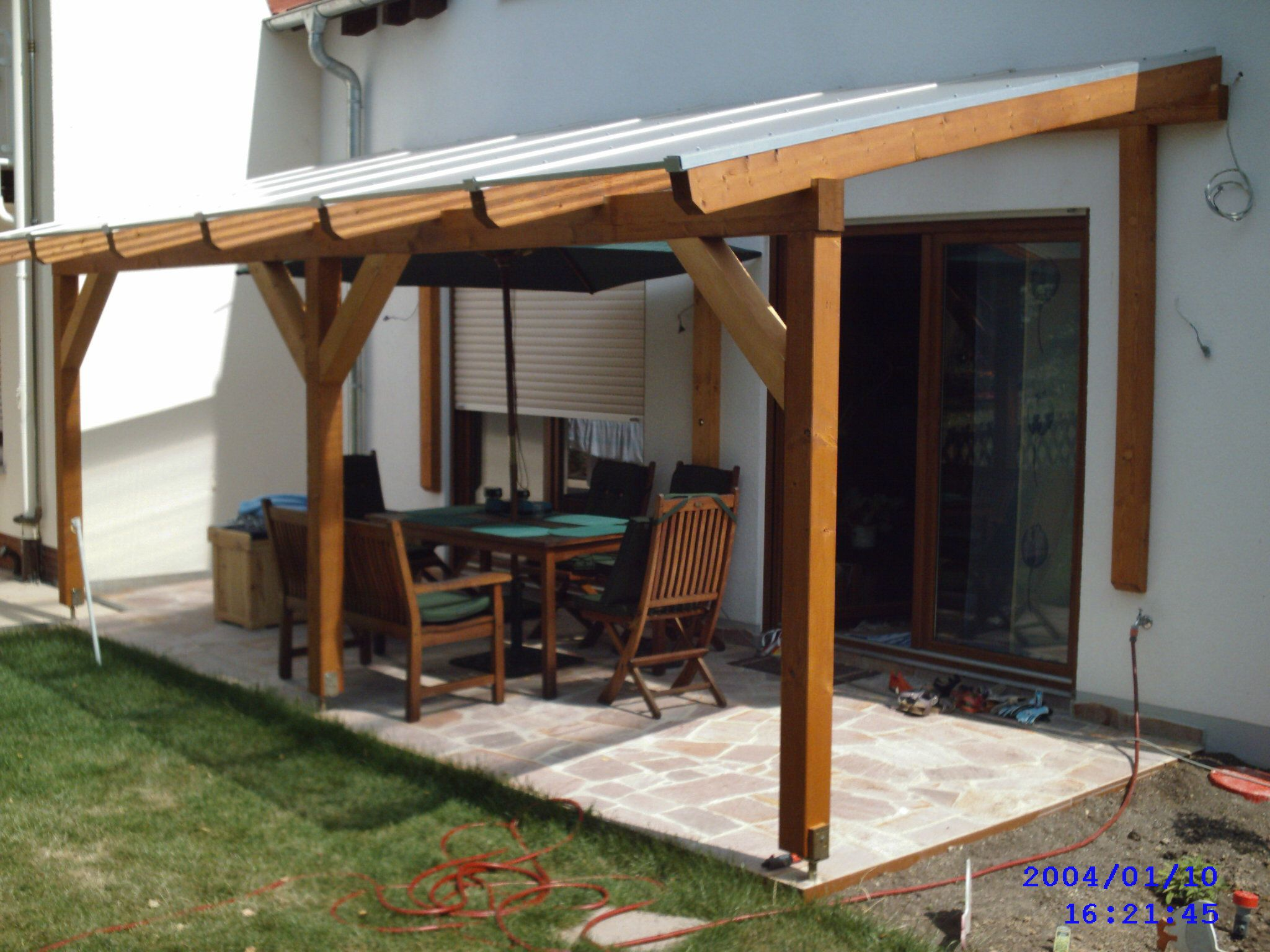 Glued laminated timber decking canopy 3 Cheap outdoor