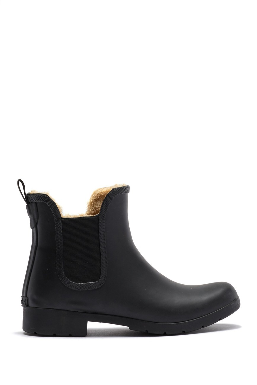 Chooka | Eastlake Chelsea Faux Fur Waterproof Boot #nordstromrack