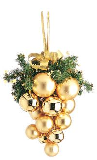 golden christmas more christmas kiss kiss ball beautiful mess golden - Christmas Ball Decorations