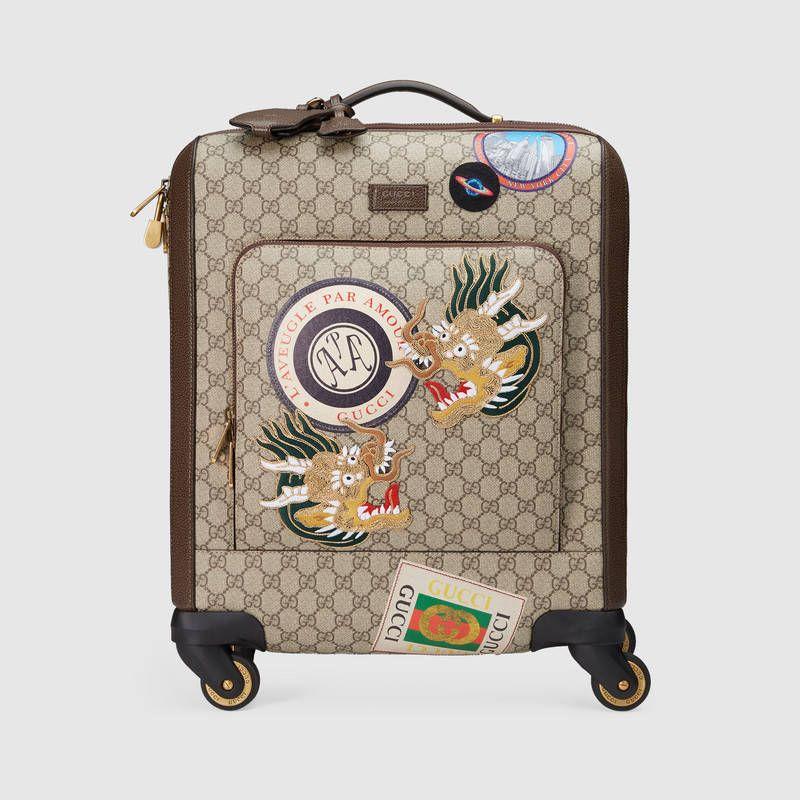 Valise cabine en toile suprême GG avec motifs Courrier en 2019 ... 89bcea3a900