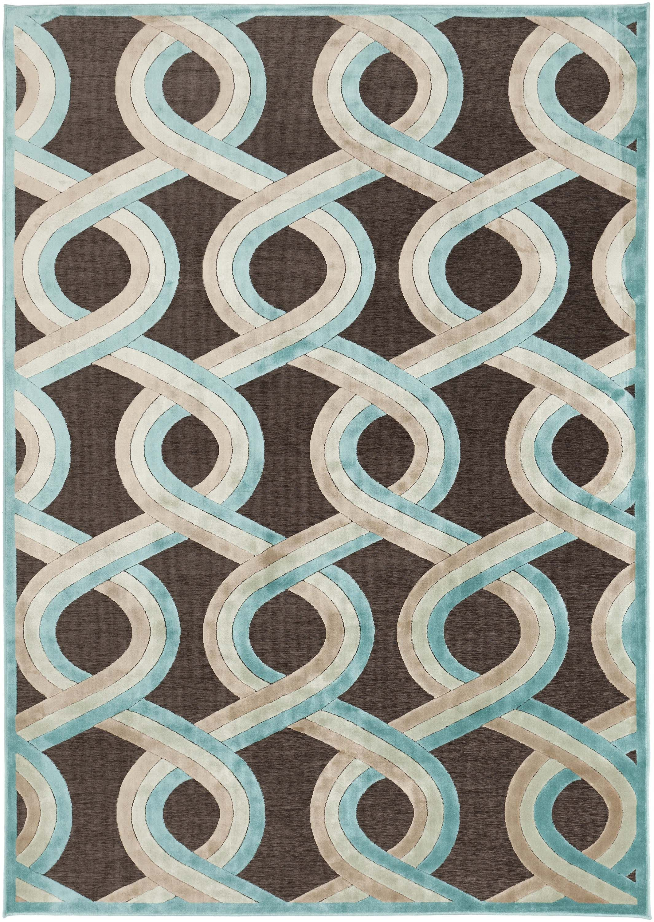 Turquoise Rugs In Swirl Patterns Modern House