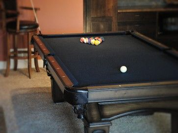 What Kind Of Pool Table Is That I Like The Black Felt And Dark Wood Houzz Pool Table Felt Black White And Gold Bedroom Billiard Tables