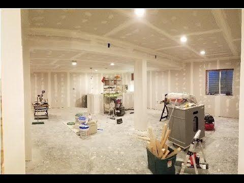 7 finishing basement  taping  mudding drywall