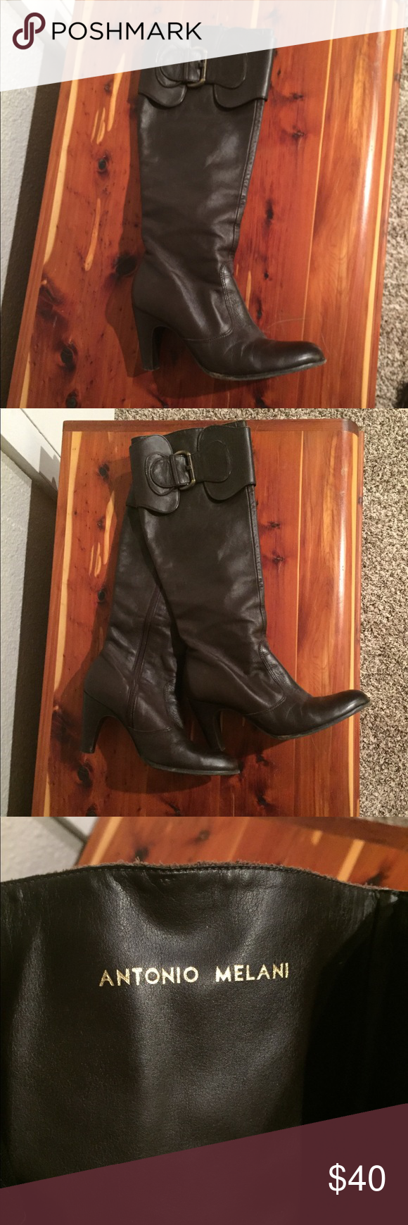 Antonio Melani Heeled Boots With Images Heeled Boots Boots Leather