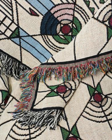 Frank Lloyd Wright April Showers Tapestry Throw Close Up