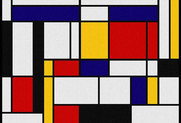 Composition En Rouge Jaune Bleu Et Noir 1926 Artiste Piet