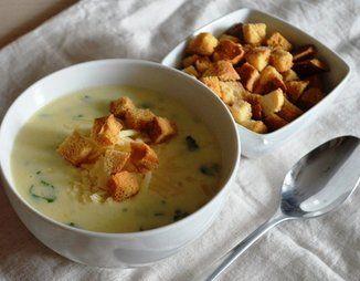 Суп-пюре с цуккини (молодыми кабачками)   Рецепт   Еда ...