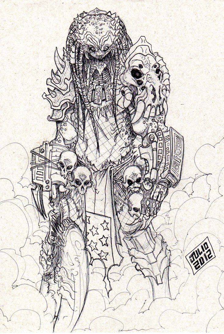 PREDATOR 01 by vandalocomics.deviantart.com on @DeviantArt | alien ...