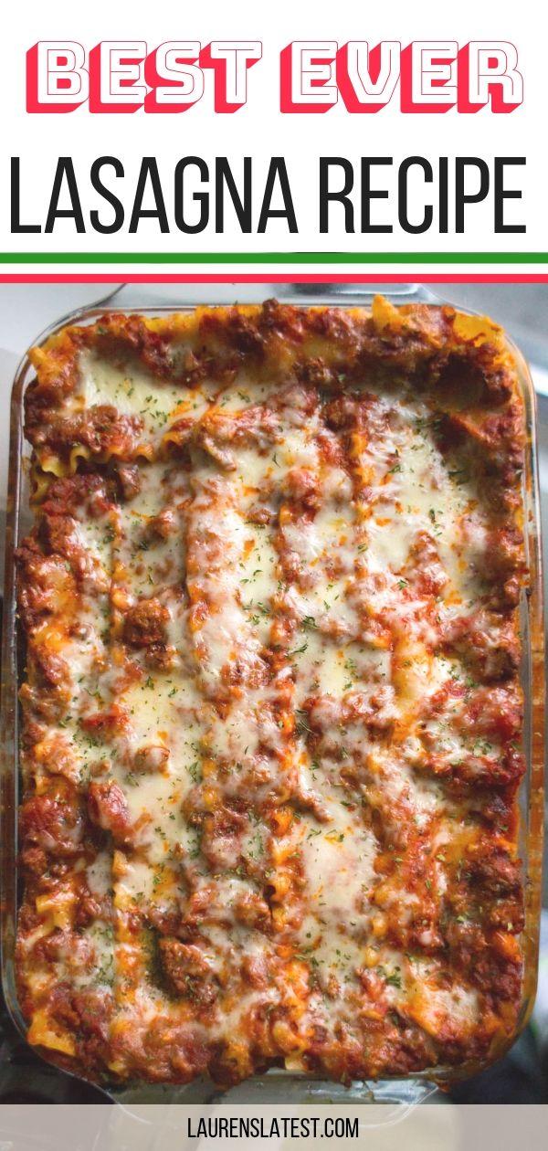 Photo of Best Ever Lasagna Recipe