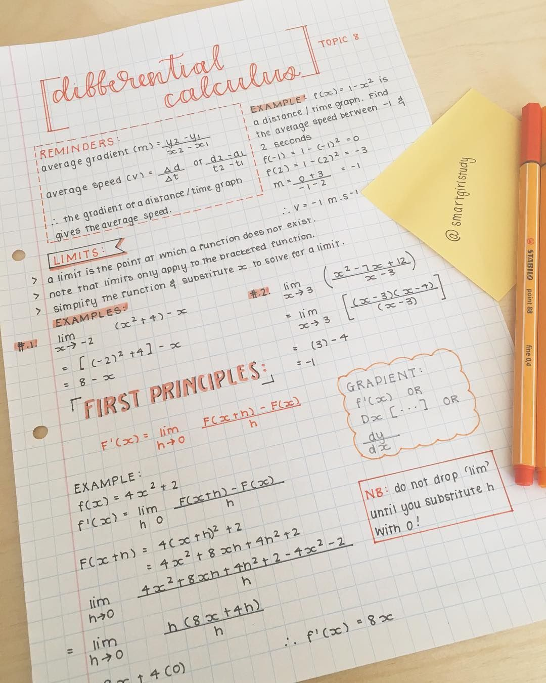 Notes on first-year calculus