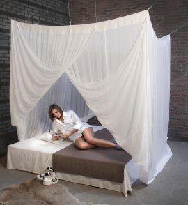 Moustiquaire de lit coton pour un lit de une ou deux - Ou trouver une moustiquaire pour lit ...
