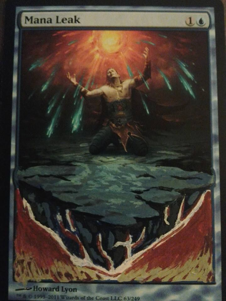 Mana Leak Alter My Mtg Alters Altered Art Alters Art