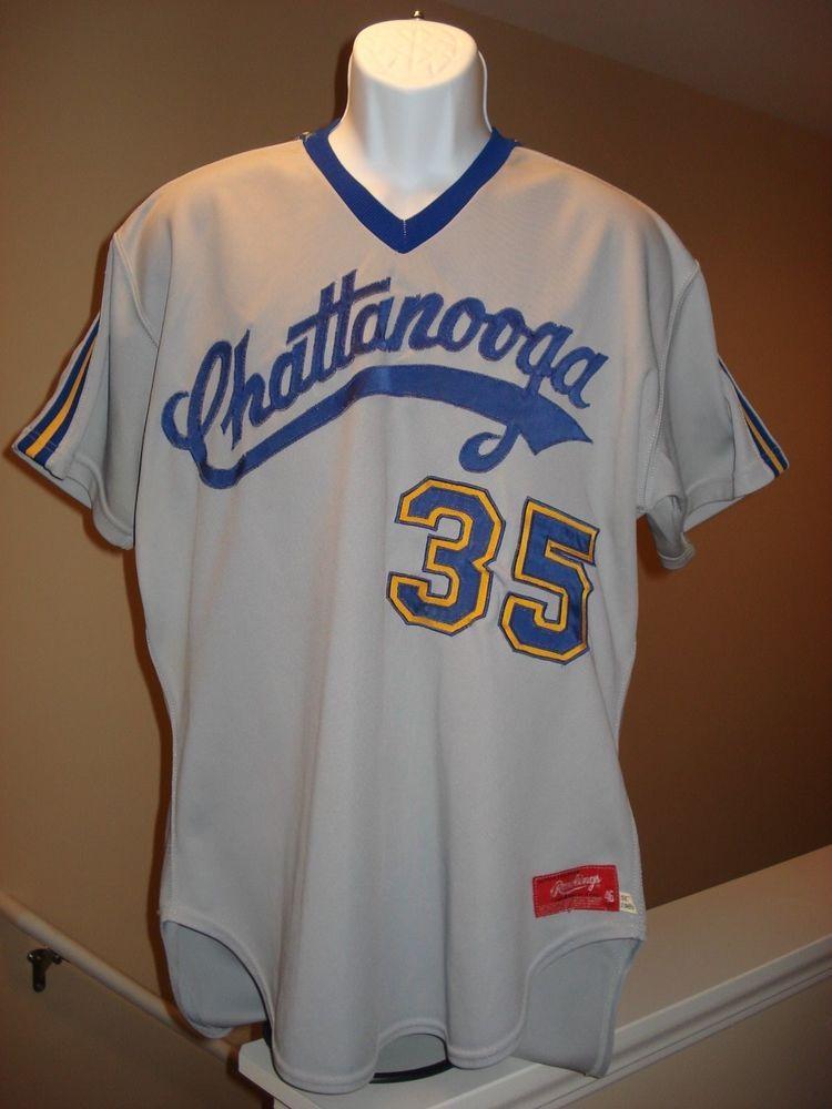 vtg CHATTANOOGA LOOKOUTS baseball jersey MENS 46 SEWN