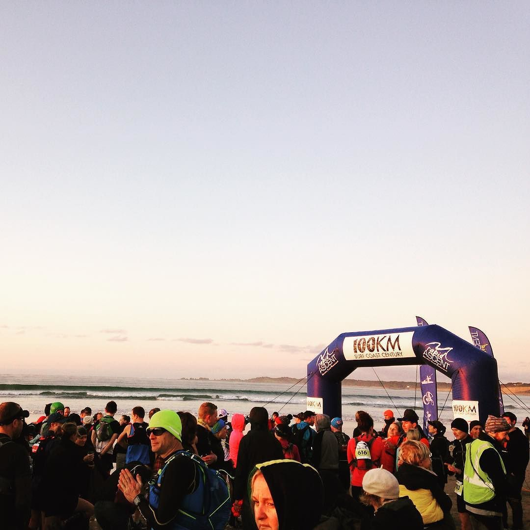 Perfect morning for a 100km run! So excited and super nervous to be part of an awesome team today :) #woo #salomans #surfcoastcentury #ultra #ultrarunning #run #running #runner by kell121325 http://ift.tt/1N3tJAU