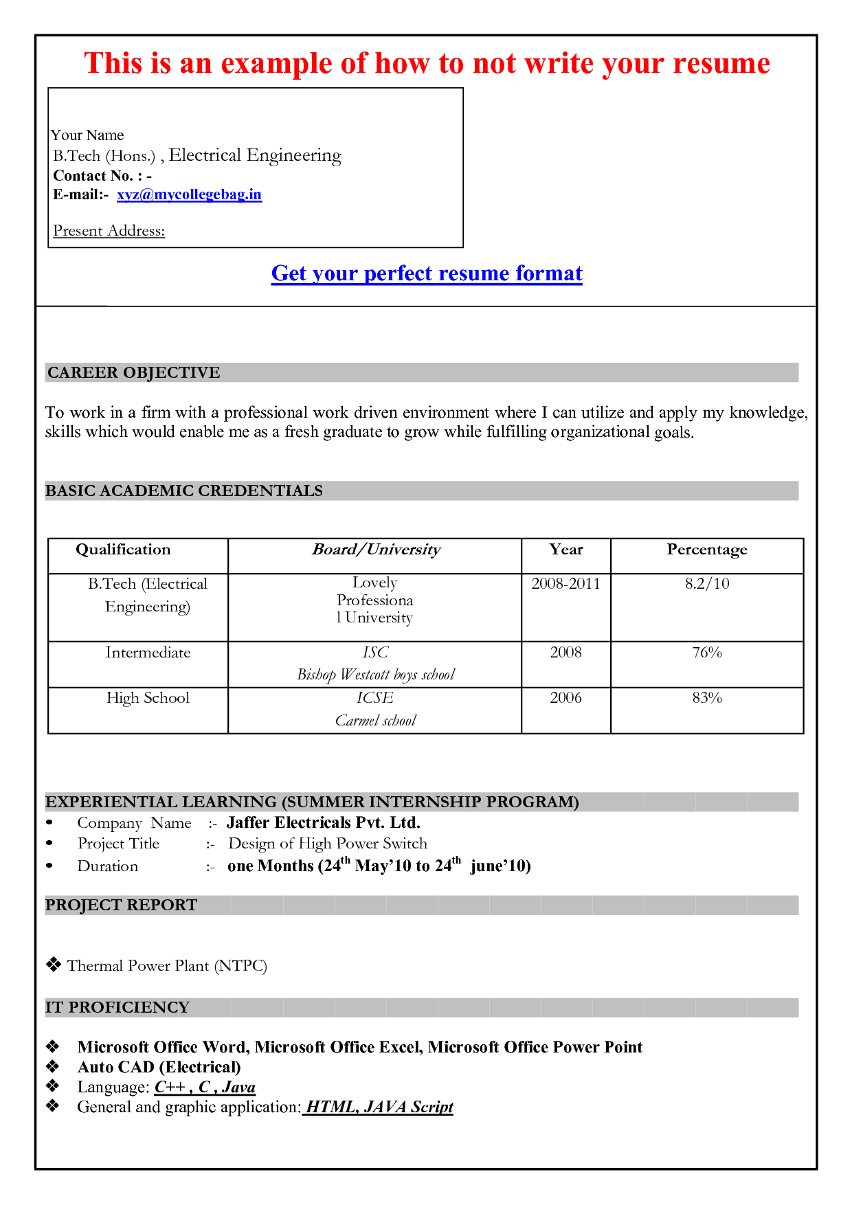 Resume Template For Microsoft Word 2010 Word Template For Resume Templates And Builder Doc Free Document