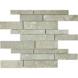 12 In X Seagr Limestone Natural Stone Mosaic Wall Tile