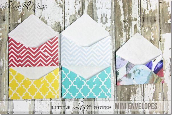Little Love Notes Mini Envelopes Mama Miss Mini Envelopes